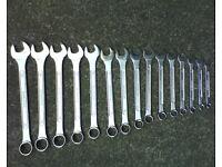 Set of spanners 6 mm - 20 mm. Bike, mechanic, garage, workshop.