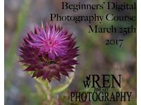 DISCOVER PHOTOGRAPHY with my one day BEGINNERS' DIGITAL PHOTOGRAPHY COURSE 25TH MARCH 2017.