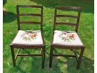 2 WOODEN DINING CHAIRS / Shabby Chic Project
