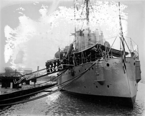 New World War I Photo: USS OLYMPIA Carries Body of Unknown Soldier - 6 Sizes!