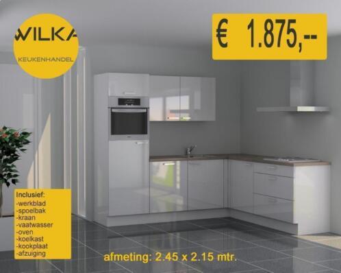 ≥ witte hoogglans budget keuken goedkoopste adres in nl keuken