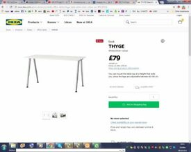 ikea table 60 by 80 cm