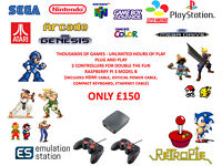 RASPBERRY PI GAMING CONSOLE RETROPIE PLUG AND PLAY GAME MACHINE THOUSANDS OF GAMES SNES SEGA GBA PS1