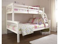 Best Furniture-NEW TRIO WOODEN BUNK BED FRAME w OPTIONAL MATTRESS-ORDER NOW