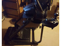 gt omega pro wheel stand and x rocker chair