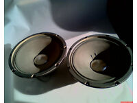 "Two original Roland JC120 12"" silvercone speakers"