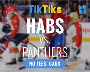 Montreal Canadiens vs Florida Panther tickets! NO FEES Buy in CAD$ Instant delivery. 5 star reviewed Canadian Company