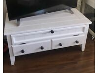 Real wood tv stand / tv cabinet, white