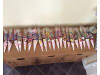 Sweet cones for chrildrens parties