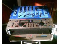 DJ EQUIPMENT OMNITRONIC OZONE CLUB MIXER CM 740 IN FLIGHT CASE