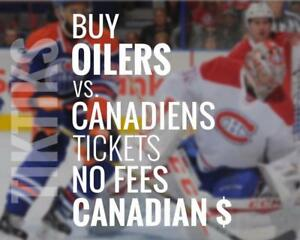 Oilers vs Habs tickets! Dec 23rd We're like Ticketmaster/StubHub but no fees, CA$, cheaper. 5% off for new customers!