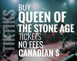 Queen of the Stone Age Concert Tickets. Way cheaper than StubHub/Ticketmaster. No fees, CAD$, tons of 5-star reviews