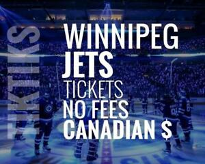 Winnipeg Jets Tickets - All Home Games - Easy to understand pricing because, NO FEES and in Canadian Dollars!