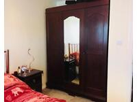 Solid wood triple wardrobe