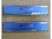 Memory PC Computer DDR3 2x2GB Kingston