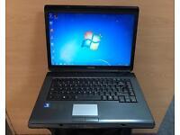 Toshiba Quick Laptop, 160GB, 2GB Ram, Dual-Core, Windows 7, Microsoft office, Good Condition