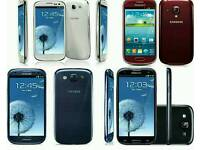 16gb Samsung Galaxy S3 Unlocked Open To All Networks All Colours Available Fully Boxed Up