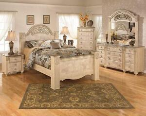 ASHLEY QUEEN  BED ONLY SALE !!!!!!!!
