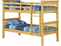⚡️Furniture online⚡️Kids Bed Single Wooden Bunk Bed In Multi Colors With Optional Mattress-