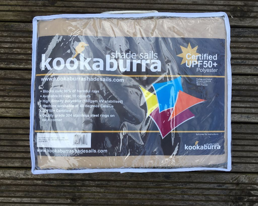 Kookaburra Rectangle Shade Sail Sun Shade Waterproof Patio Canopy Awning in Sand 5M x 4M & Kookaburra Rectangle Shade Sail Sun Shade Waterproof Patio Canopy ...