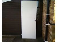 Plain hardboard faced interior door.Good condition.Fitted lock and hinges. & Great value new and used doors and windows on sale in pe378aw - Gumtree