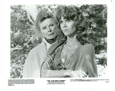 KATHARINE HEPBURN, JANE FONDA movie photo ON GOLDEN POND