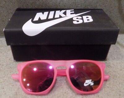 $125 Nike Flatspot Mirrored Sunglasses Adult Men's Women's Pink EV1045 606