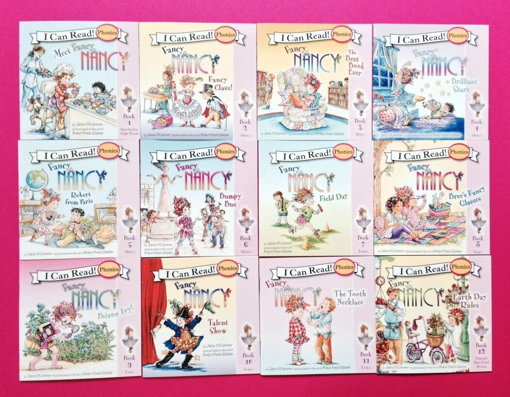 Fancy Nancy Childrens Book Phonics Fun I Can Read Early Readers Lot 12