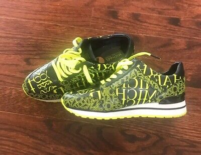 New Womens Michael Kors Green / Black Sneakers Size 7 (HX19D)