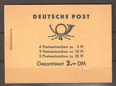 DDR Markenheftchen 3 b sauber postfrisch