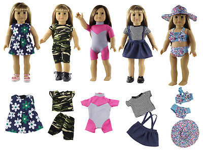 New Style Clothes For Girls (5 Set New Style Doll Clothes FOR 18'' inch American Girl Handmade Dress)