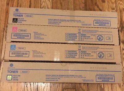 4 Genuine Konica Minolta bizhub C458 C558 C658 Color Copier Printer TN514 Toner Color Laser Copier Black Toner