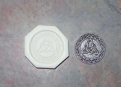 Celtic Triquetra Trinity Knot Polymer Clay Push Mold DIY Wicca Pagan Jewelry