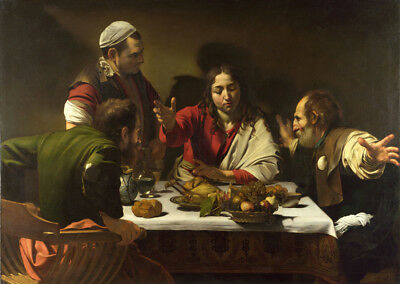 Supper at Emmaus  by Caravaggio   Giclee Canvas Print Repro