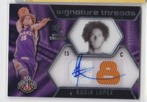2008-09 UPPER DECK SP ROOKIE THREADS ROBIN LOPEZ SIGNATURE AUTO JERSEY RC /549