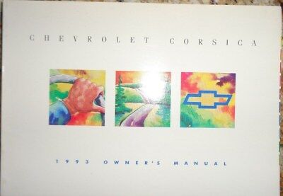 1993 Chevrolet Owners Manual Original Corsica