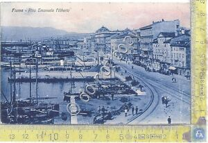 Cartolina-Postcard-Fiume-Riva-Emanuele-Filiberto-Barche-anni-039-20