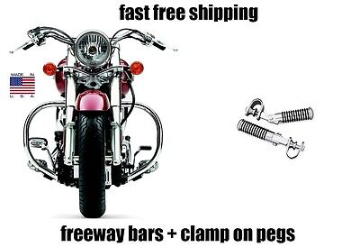 NEW COBRA FREEWAY BARS AND HIGHWAY PEGS FOOTPEGS HONDA 1100 SHADOW SABRE - Honda Shadow Freeway Bars