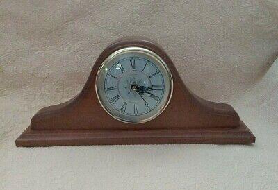 Vintage Sunbeam Quartz Wood Mantle Shelf Table Clock Works EC