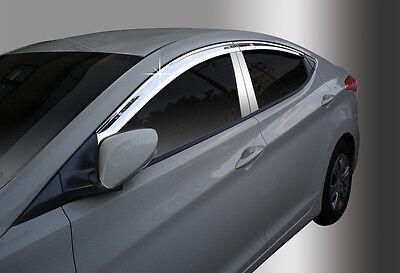 New Chrome Window Vent Visor A481 4pcs for Hyundai Elantra MD 2011-2013