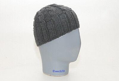 Mütze Strickmütze Beanie Wollmütze Cap Wintermütze Merinowolle grau Herren H2 Merino Winter Cap