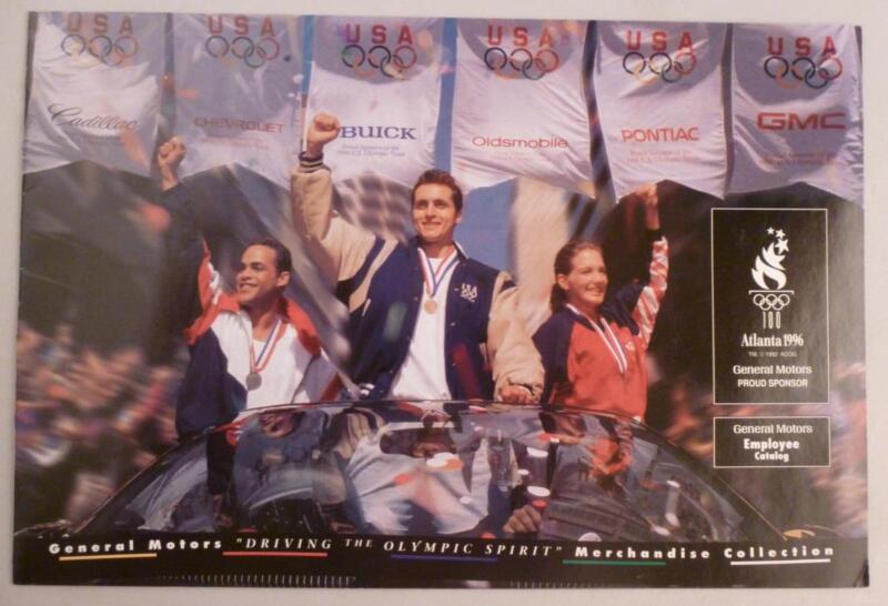 RARE 1996 Atlanta Olympics General Motors Merchandise Souvenir Catalog Employee