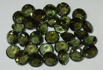 7mm Faceted TOP QUALITY Natural Czechoslovakia Moldavite Round Cut