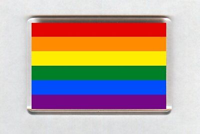 LGBT Gay Pride Rainbow Flag Fridge Magnet