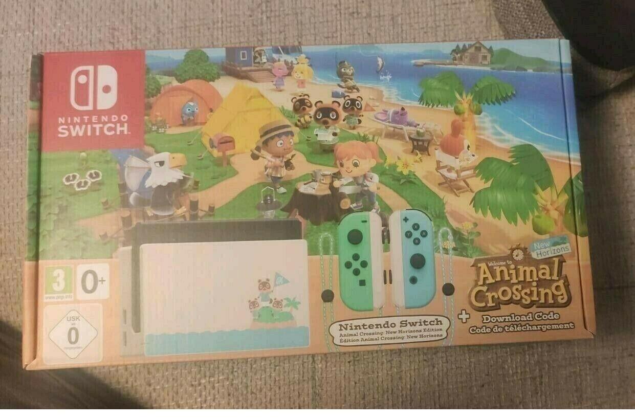 Konsole Nintendo Switch Animal Crossing New Horizons-Edition Limited Edition Neu