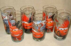 SET OF 6 DISNEY PIXAR CARS GLASSES GLASS TUMBLERS BRAND NEW Hoppers Crossing Wyndham Area Preview