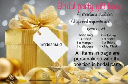 Gift bags for Bridal party