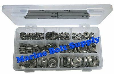 Stainless Steel Finishing Cup Washer Assortment Kit Sizes 4 To 516