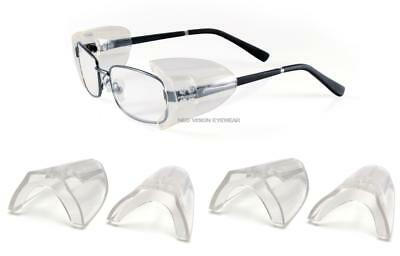 3 Pair Pyramex Ss100 Flexible Clear Side Shield For Safety Glasses Slip On Z87