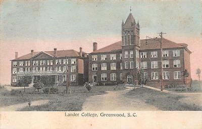 LANDER COLLEGE GREENWOOD SOUTH CAROLINA BREEZEWOOD DPO POSTCARD 1908